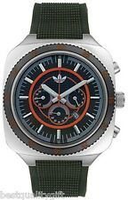 NEW ADIDAS BROWN RUBBER,SILICONE CHRONOGRAPH DATE WATCH ADH2004-MSRP $155