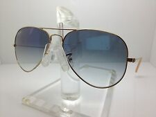 New AUTHENTIC RAY BAN SUNGLASSES RB3025 001/3F 55MM RB 3025 GOLD/BLUE MIRROR LEN