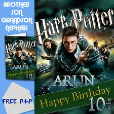 HARRY POTTER - PERSONALISED Birthday Card Son Brother Nephew Grandson