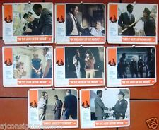 "(Set of 8) IN THE HEAT OF THE NIGHT {SIDNEY POITIER} 14x11"" Org Lobby Cards 60s"