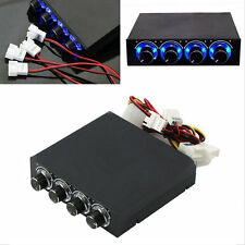 3.5inch PC HDD CPU 4 Channel Fan Speed Controller Led Cooling Front Panel ZH