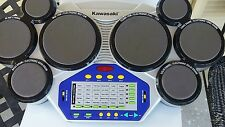 Kawasaki Mega Deluxe Drum 8 Pad Digital Drum Set Music Electronic Toy Portable