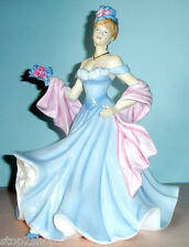 Royal Doulton A TENDER MOMENT Pretty Ladies Figurine HN5554 Blue Gown New Boxed