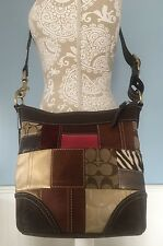 COACH #10435 Patchwork Leather Cross Body Holiday Late Ed Satchel Duffel Purse