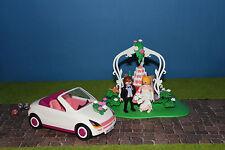 Playmobil Hochzeitsgesellschaft Brautpaar mit Auto    Top Zustand