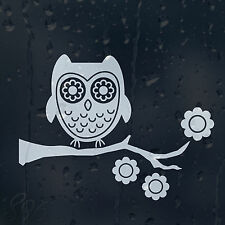 Funny Owl Cartoon On Tree Car Decal Vinyl Sticker For  Window Or Bumper Or Panel