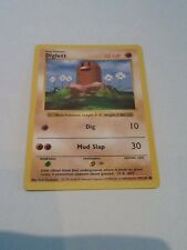 Pokemon Rare SHADOWLESS DIGLETT  47/102 Base Or Basic Set Card