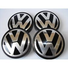 4x Volkswagen Alloy Wheel Centre Caps 55mm Badge Fits: Golf,Scirorro,Passat,Bora