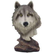 Gray Wolf Bust Statuette in Lodge & Cabin Decor Statues and Figurines As Gifts
