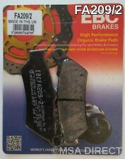 BMW F650 (1993 to 2012) EBC Kevlar FRONT Brake Pads (FA209/2) (1 Set)