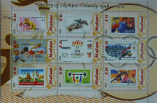 History of Olympic Philately #1 stamp on stamp  m/s Malawi 2012 MNH  #H063