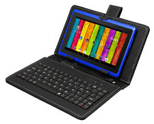 "7"" Quad Core Android 4.4 Kitkat Tablet Bluetooth 2 Camera Play Store W/ Keyboard"