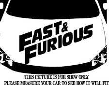 FAST AND FURIOUS LOGO DECAL VINYL GRAPHIC HOOD FOR CAR TRUCK