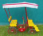 1951 Gym Dandy Surrey Pedal Car - Art Linkletter Red, Yellow, Fringed Cover