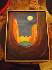 ORIG. OIL PAINTING (FROM WITHIN) SIGNED BY BROOKE PALANCE PROFESSIONALLY FRAMED