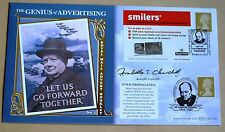 SMILERS ADVERT B/LET WINSTON CHURCHILL 2005 BENHAM FDC SIGNED ARABELLA CHURCHILL