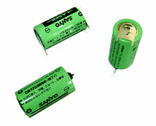 6Pcs SANYO Battery CR17335SE 3V W/3P tabs for PLC Backup Power 17*33.5mm