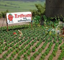 OO/HO fruits for garden scenery - 40 Strawberry plants - Busch 1265 - free post