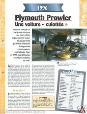 Plymouth Prowler V6 1996 Chrysler Pacifica USA Car Auto Voiture FICHE FRANCE