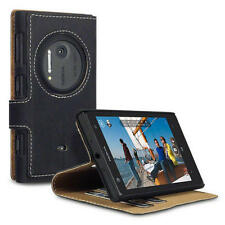 Black PU Leather Thin Wallet Case Cover with Viewing Stand for Nokia Lumia 1020