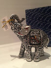 Small Shudehill Silver Mosaic Mirror Elephant Ornament Gift Figurine