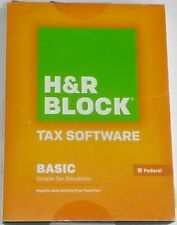 H&R Tax Software Basic Simple Tax Situations Federal 2013  NEW