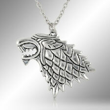 Game of Thrones Stark Direwolf Charm Pendant Inspired Necklace Jewelry Fashion