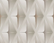 Move Your Wall Geo-Deluxe Wallpaper 960411 Cappuccino