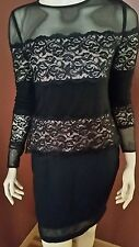 Joseph Ribkoff 143432 Black/Nude Lace Top Blouse Size 8 Uk 10 new without tags