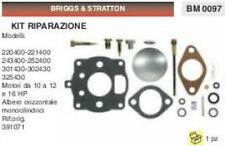 391071 KIT RIPARAZIONE membrane CARBURATORE BRIGGS & STRATTON 10 12 16 HP CV
