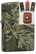 Zippo 24072 realtree advantage max Lighter + FUEL FLINT WICK POUCH GIFT SET