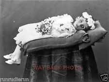 REPRINT OF 19th CENTURY POST-MORTEM PHOTO OF CHILD - ODD POSE, CREEPY