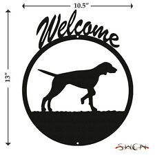 English Pointer Black Metal Welcome Sign *NEW*