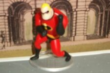 "NEW DISNEY PIXAR MR INCREDIBLE 3"" POSEABLE ACTION FIGURE CAKE TOPPER W/ STAND"