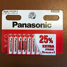 10 x AAA Genuine PANASONIC Zinc Carbon Batteries - New LR03 1.5V MN2400 11/2019