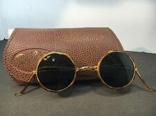 Vintage Ray Ban Bausch & Lomb W1749 Round Cheyenne Tortoise Sunglasses WCase 127