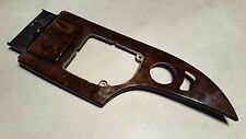 04-08 E60 BMW OEM CENTER CONSOLE WOOD TRIM PANEL 14537310