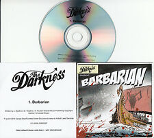 THE DARKNESS Barbarian 2015 UK 1-track promo CD