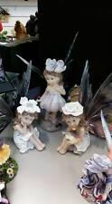 GORGEOUS RESIN BABY FAIRES SET OF 3 HOME OR GARDEN DECOR ORNAMENT FAIRY GARDEN