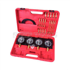 Fuel Vacuum Carburetor Synchronizer carb sync Gauge Set Rubber Hose