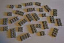 lot of 27 assorted light grey Lego plates - 2X2, 2X3, 2X4