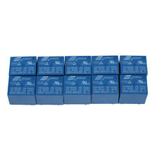10pcs SRD-05VDC-SL-C PCB SONGLE DC 5V Mini Power Relay 5 Pin SRD-5VDC-SL-C Blue