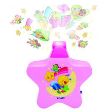 Tomy Baby Musical Starlight Dreamshow Light Show/Cot Mobile Projector PINK NEW