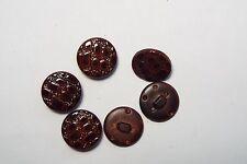 6pc 17mm Chestnut Effetto Pelle Di Serpente Marrone Cappotto Cardigan Bambini pulsante 2672