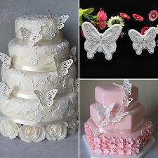 2X Butterfly Cake Fondant Decorating Sugarcraft Cookie Lovely Cutters Mold NEW!
