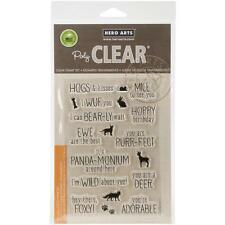 HERO ARTS RUBBER STAMPS CLEAR ANIMAL MESSAGES NEW clear STAMP SET
