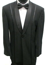 Black Jean Yves One Button Shawl Tuxedo Jacket Prom Wedding Cruise Formal 58L