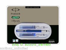 Parker Vector Calligraphy CT Fountain Pen (Blue) Brand New Sealed 100% Original