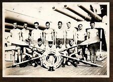 1927 Race Boat Crew Seattle Times Cup Winners ~ USS New Mexico ~ Vntage Photo #2