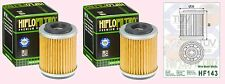 2x HF143 Oil Filter for Yamaha YFM YFM230 2003-04 & YFM250 Bear Tracker  1991-04